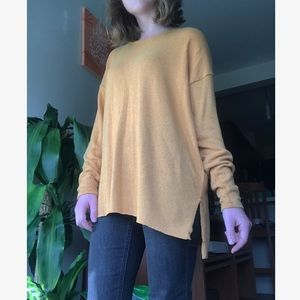 American Eagle muted mustard sweater